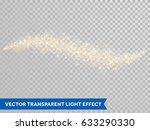 gold glitter waves and shining... | Shutterstock .eps vector #633290330