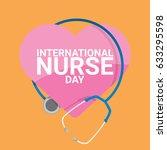 vector international nurse day... | Shutterstock .eps vector #633295598