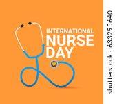 vector international nurse day... | Shutterstock .eps vector #633295640