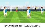 children's football team with a ...   Shutterstock .eps vector #633296843