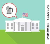 illustration of the white house ... | Shutterstock .eps vector #633299648