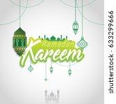 ramadan kareem design... | Shutterstock .eps vector #633299666