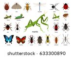 set of insects | Shutterstock .eps vector #633300890