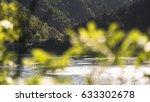 lake landscape behind tree...   Shutterstock . vector #633302678