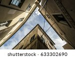 geometrical shape with roofs   Shutterstock . vector #633302690