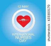 vector international nurse day... | Shutterstock .eps vector #633303170