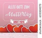 german text alles gute zum... | Shutterstock .eps vector #633304070