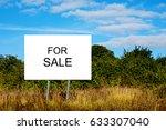 "cartel advertising ""for sale"".... | Shutterstock . vector #633307040"