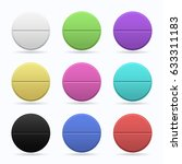 medicinal tablets. set of round ... | Shutterstock .eps vector #633311183