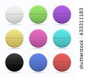 medicinal tablets. set of round ... | Shutterstock .eps vector #633311183