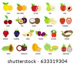set of fruits.vector... | Shutterstock .eps vector #633319304