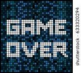video game pixel background... | Shutterstock .eps vector #633320294