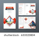 tri fold brochure design.... | Shutterstock .eps vector #633320804