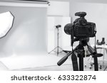 Small photo of Modern photo studio with professional equipment