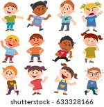 cartoon characters boys and... | Shutterstock .eps vector #633328166