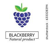 cartoon blackberry label | Shutterstock .eps vector #633328394