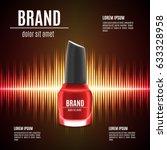 red nail polish template. nail... | Shutterstock .eps vector #633328958