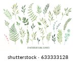 hand drawn watercolor... | Shutterstock . vector #633333128