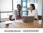 businesspeople working on... | Shutterstock . vector #633334340