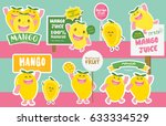 cute mango vector tag and... | Shutterstock .eps vector #633334529
