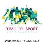 color sport background.... | Shutterstock .eps vector #633337316