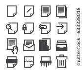 document icons   Shutterstock .eps vector #633338018