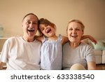 grandmother and grandfather... | Shutterstock . vector #633338540