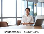 portrait of businesswoman... | Shutterstock . vector #633340343
