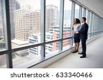 portrait of new business owners ... | Shutterstock . vector #633340466