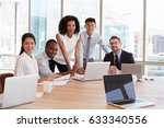 portrait of businesspeople... | Shutterstock . vector #633340556