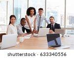 portrait of businesspeople... | Shutterstock . vector #633340556