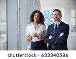 portrait of new business owners ... | Shutterstock . vector #633340586