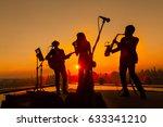 silhouette trio musician  trio... | Shutterstock . vector #633341210