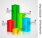 modern infographics 3d colorful ... | Shutterstock .eps vector #633341564