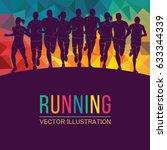 running marathon  people run ... | Shutterstock .eps vector #633344339