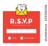 rsvp layout design with... | Shutterstock .eps vector #633346346