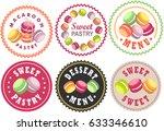 vector set labels of bakery... | Shutterstock .eps vector #633346610
