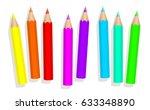 little baby neon crayons  ... | Shutterstock .eps vector #633348890