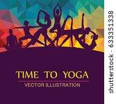 yoga fitness concept. vector... | Shutterstock .eps vector #633351338