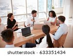group of medical staff meeting... | Shutterstock . vector #633351434