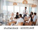 businessman leads meeting...   Shutterstock . vector #633351449