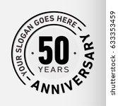 50 years anniversary logo...   Shutterstock .eps vector #633353459