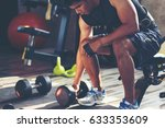 fitness people doing exercises... | Shutterstock . vector #633353609