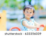 cute children playing in the... | Shutterstock . vector #633356039