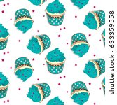 vector repetition muffin... | Shutterstock .eps vector #633359558