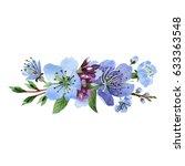 wildflower cherry flower in a... | Shutterstock . vector #633363548