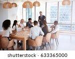 businessman stands to address... | Shutterstock . vector #633365000