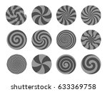 set of lollipops  different... | Shutterstock .eps vector #633369758