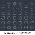 huge rosette wicker border... | Shutterstock . vector #633371369