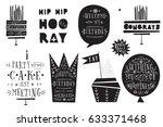 set of birthday design elements   Shutterstock .eps vector #633371468